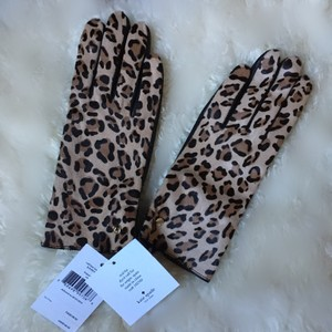 Kate Spade calf hair leather gloves size medium
