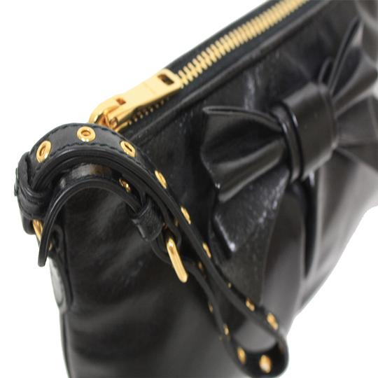 Miu Miu Prada Vitello Clutch Wristlet in Black Image 1