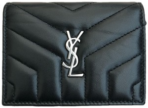 "Saint Laurent LOULOU CARD CASE IN MATELASSÉ ""Y"" LEATHER"