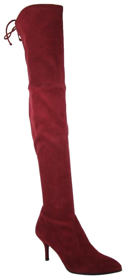 043fc8b16d6 Stuart Weitzman Scarlet Suede Tiemodel Over-the-knee Boots Booties ...