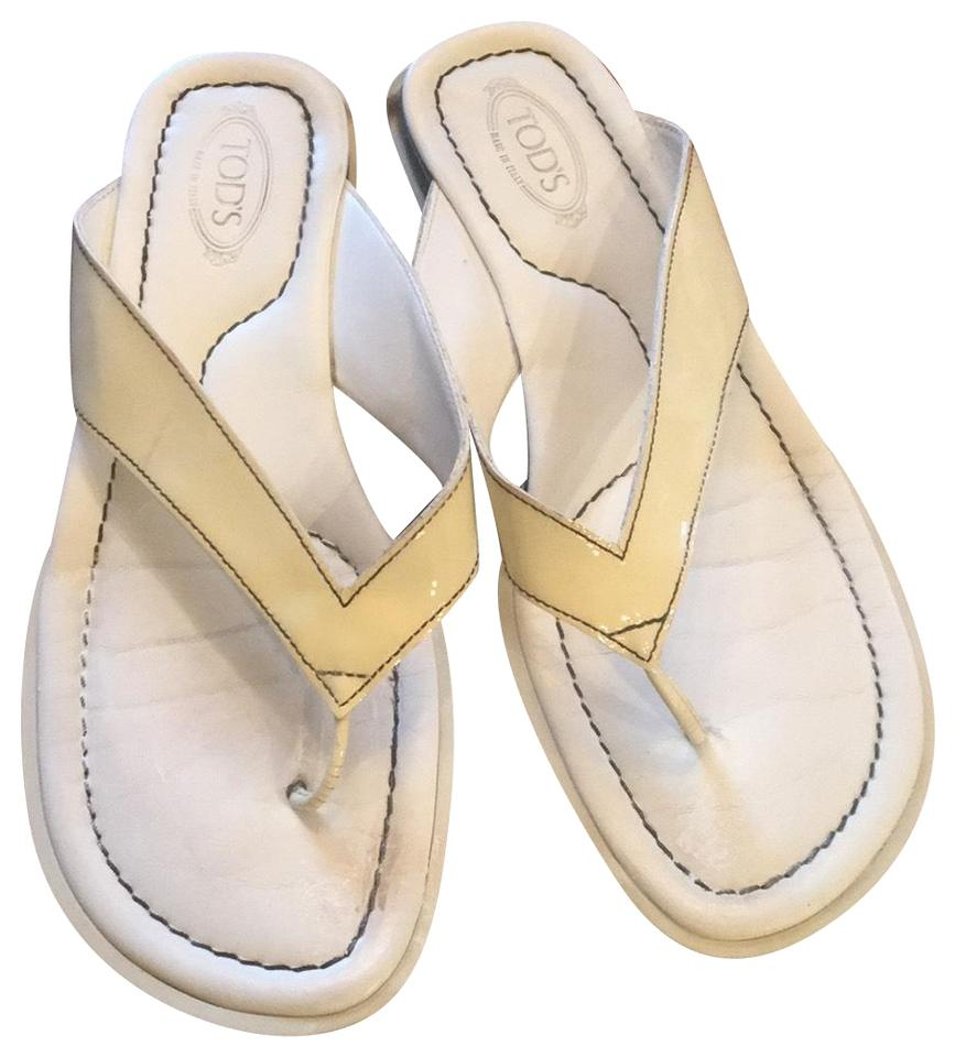 6f53a1c8c16a4 Tod s White Driving Flip Flops Sandals Size US 7.5 Regular (M