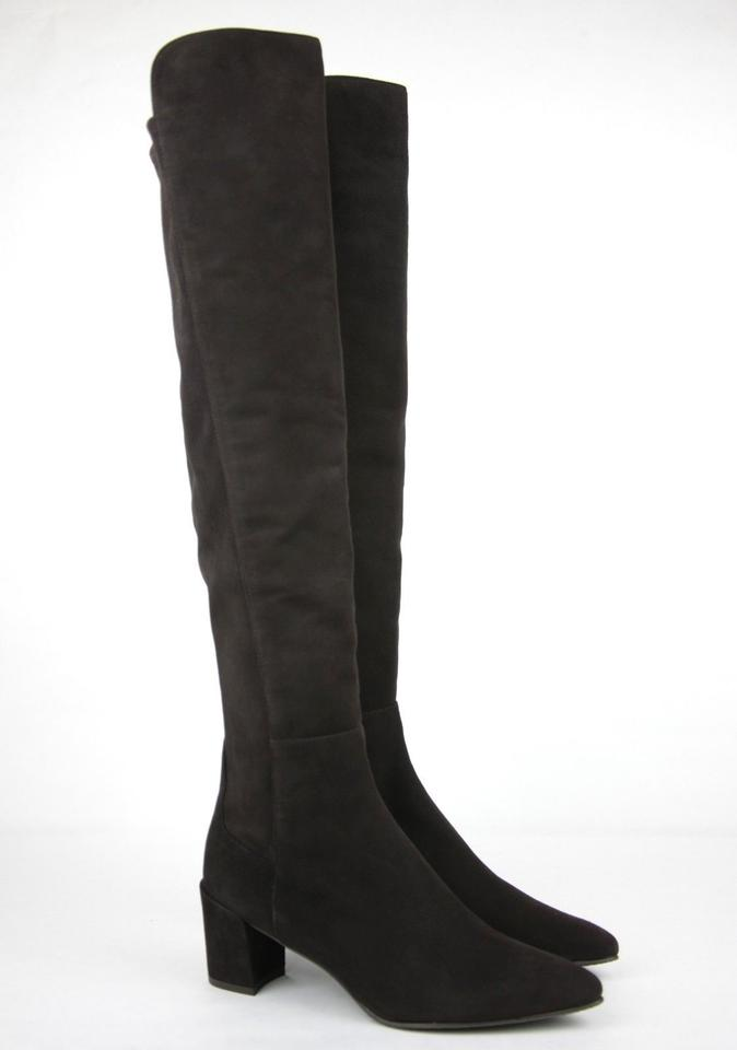 8875e49c037 Stuart Weitzman Dark Brown Cola Suede Allwayhunk Over-the-knee Boots Booties.  Size  US 8.5 Regular (M ...