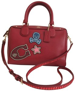 Coach coach mini bennett with leather stickers
