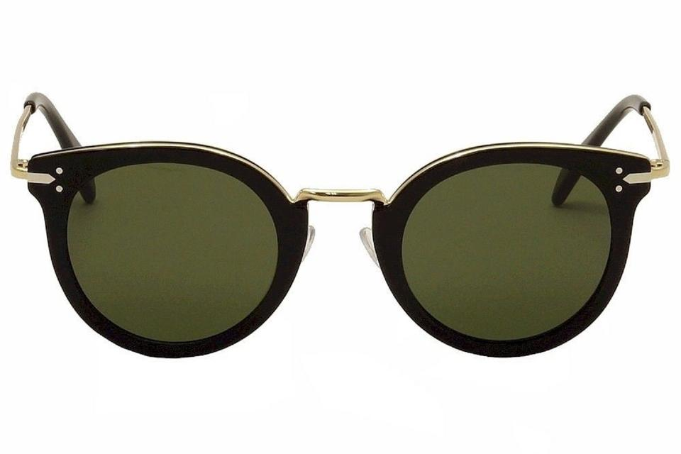 26aaf6d14a2 Céline Celine Sunglasses CL41373S ANW 1E Black Gold Cat Eye Sunglasses  Image 0 ...