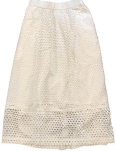 Madewell Layer Lace Lining Spring Skirt white