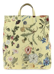 0defc454e Gucci Floral Canvas G-active Knight Tall Tote in Yellow