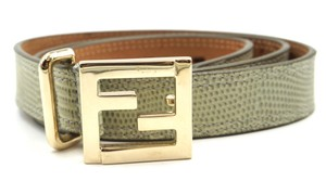 Fendi Fendi FF classic gold buckle leather Belt Size 80 32