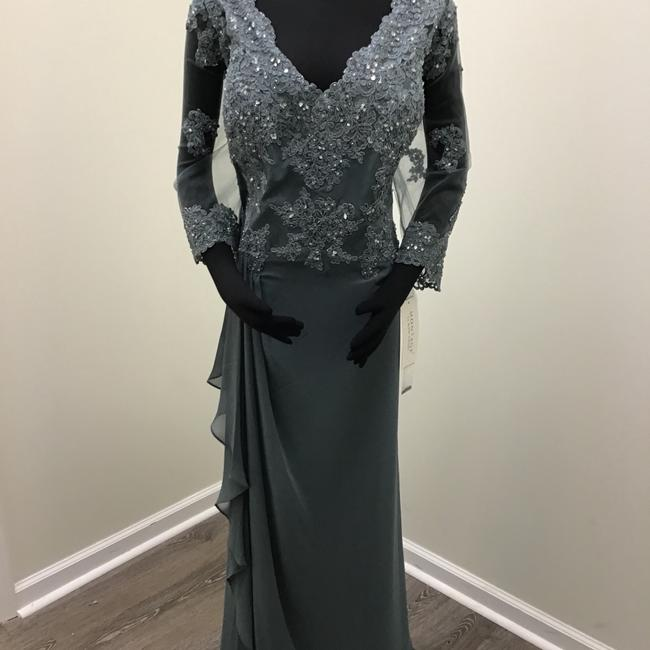 Item - Steel Gray Chiffon 216965 Formal Bridesmaid/Mob Dress Size 24 (Plus 2x)