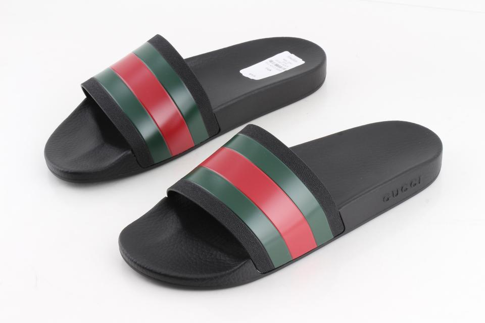 cf71faa0952 Gucci Black Pursuit  72 Rubber Slide Sandal Shoes Image 0 ...