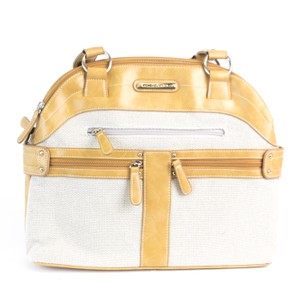 Stone Mountain Accessories Satchel in Bone/Vachetta
