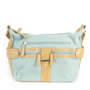 Stone Mountain Accessories Satchel in Ice Blue/Vachetta