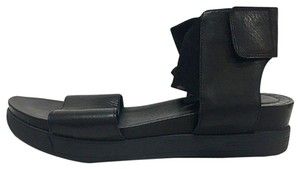 Eileen Fisher Black Leather Sandals
