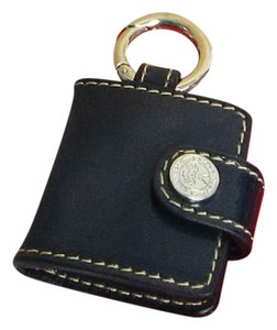 Bally Bally Keychain Mini Photo Book Accessory Navy Leather Silver 2 Picture