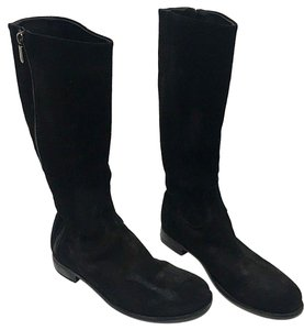 Rocco P. Black Distressed Suede Boots
