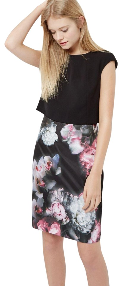 Ted Baker Black Sneha Layer Ted2 Cocktail Mid Length Night Out Dress