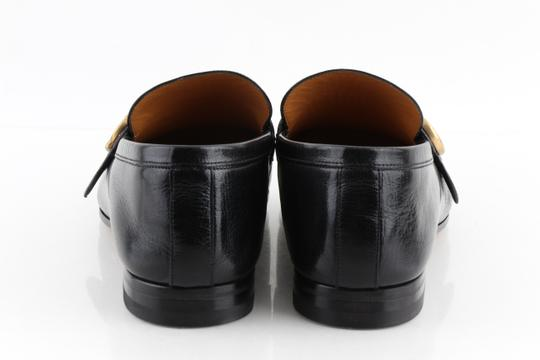 Gucci Black Leather Loafers with Gg Web Shoes Image 4