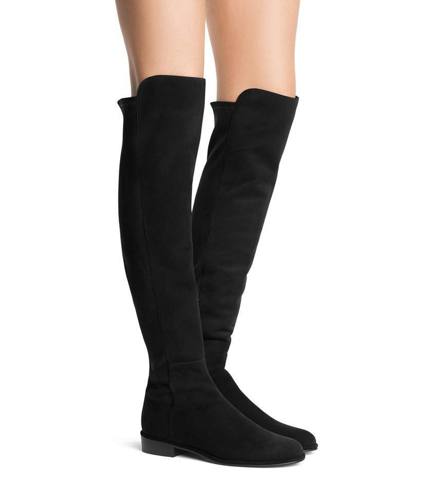 3157c2d9095 Stuart Weitzman Black Suede Allgood Low Heel Knee Boots/Booties Size US 11  Regular (M, B) 45% off retail