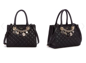 Guess Victoria Small Girlfriend Black Quilted