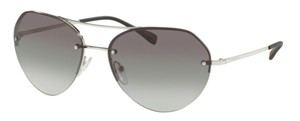 Prada New Small Petite Aviator SPS 57R1BC0A7 Free 3 Day Shipping with Case