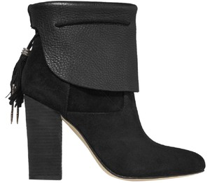 Sigerson Morrison Suede Leather Tassel Black Boots