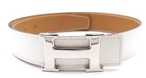 Hermès 32Mm Classic Silver H Reversible Belt leather Size 70