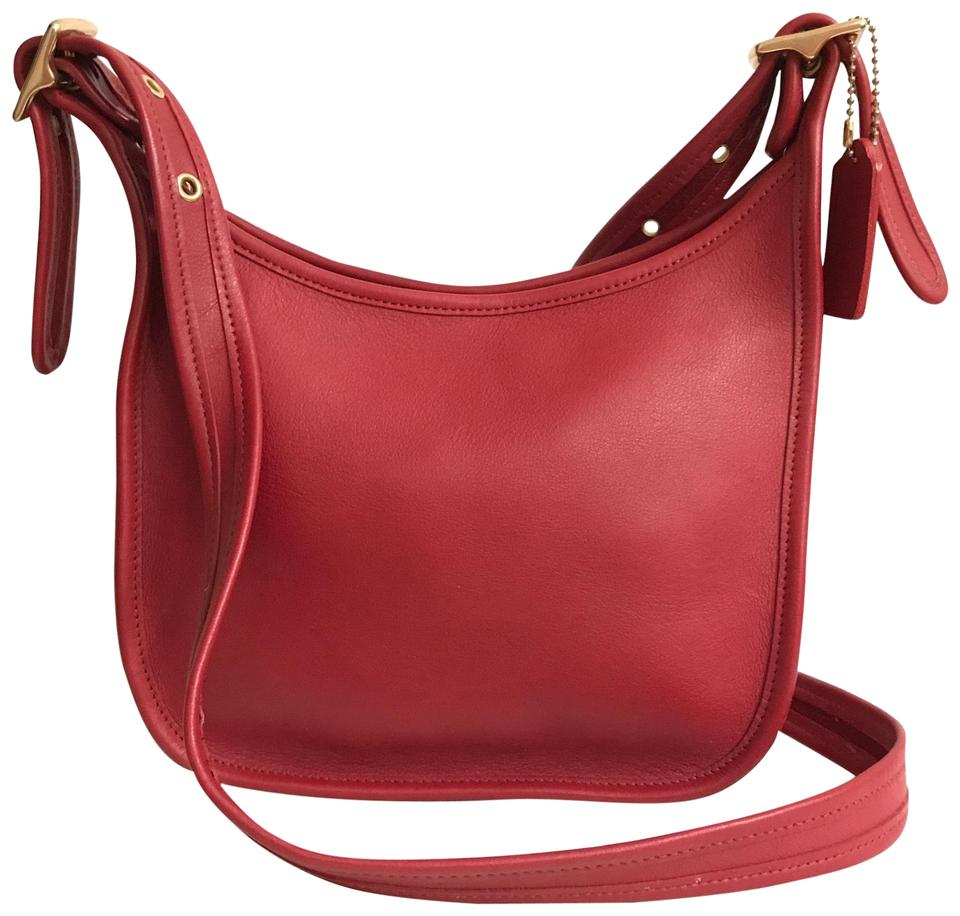 Coach Janice Legacy Vintage 9950 Red Gold Leather Cross Body Bag ... 66c42077263af