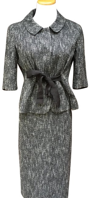 Item - Black and White Tweed Skirt Suit Size 4 (S)