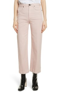 Rag & Bone Blush Justine And Waist Trouser/Wide Leg Jeans-Light Wash