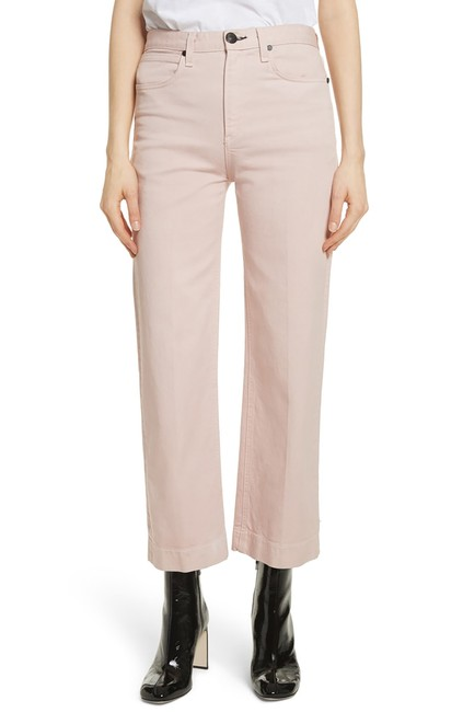 Item - Pink Light Wash Justine High Waist In Blush Twill Trouser/Wide Leg Jeans Size 27 (4, S)