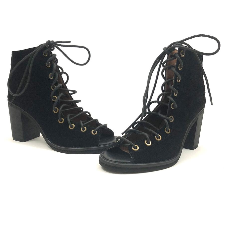 2ce6d8fc682 Jeffrey Campbell Black Cors Lace-up Suede Boots/Booties Size US 7 Regular  (M, B) 40% off retail