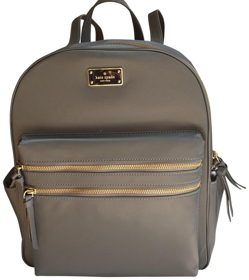 best place amazing quality best place for Kate Spade New York Large Bradley Wilson Smoky Pearl Grey Backpack 36% off  retail