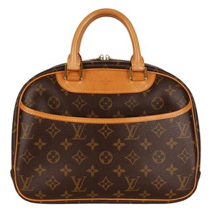 Louis Vuitton Handbags Trouville Cosmetic Case Luggage Satchel in Brown