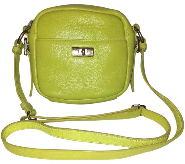Item - Handbag with A Zipper Closure Lime Green Leather Cross Body Bag