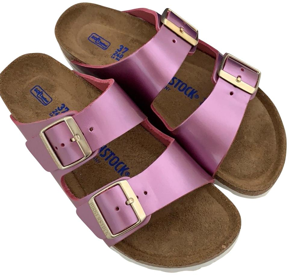 f2e625f9d25 Birkenstock Spectacular Rose Leather Sandals Size US 6 Narrow (Aa