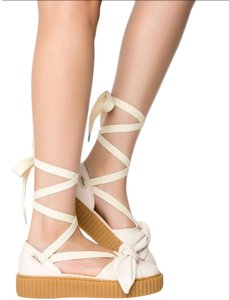 info for 76748 163e3 FENTY PUMA by Rihanna Beige Bow Creeper Platform Sandals Flats Size US 8  Regular (M, B) 49% off retail