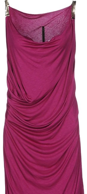 Item - Purple Made In Italy Mid-length Cocktail Dress Size 14 (L)