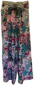 Profile by Gottex Wide Leg Printed Wide Relaxed Pants Multi