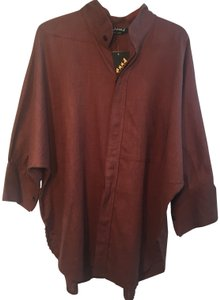 Dilemma Button Down Shirt Brown
