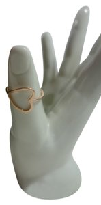 Shiekh 2 Rings - 1Rose Gold plated Open Heart Ring 1 yellow Gold plated