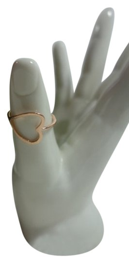 Shiekh 2 Rings - 1Rose Gold plated Open Heart Ring 1 yellow Gold plated Image 0