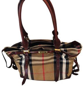 Burberry Tan Diaper Bag