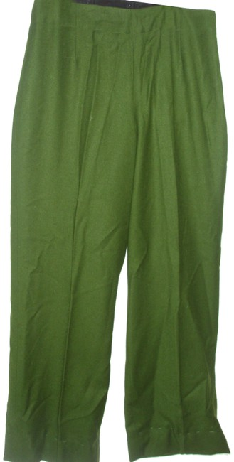 Item - Green Pretty Stretch Wool Lined with Zipper Pants Size 4 (S, 27)