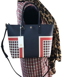 Tory Burch Gabriela Small Zip Summer Floral Tote in Milano Square