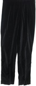 Van Heusen Vintage Velour Small Long Holiday Trouser Pants Black