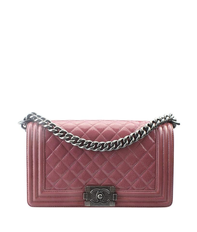 a44e23a56b9a Chanel Boy Le Medium (159746) Pink Leather Shoulder Bag - Tradesy