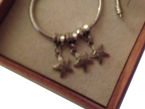 Bella & Chloe Set of 3, Stars, Great for July 4th, Memorial day and Veterans Day Bracelets! 4mmhole.