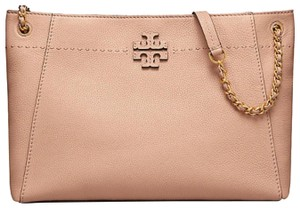 22111675ab6ede Tory Burch Tote in Devon sand · Tory Burch. Mcgraw Chain Shoulder Slouchy  Devon Sand Pebbled Leather Tote