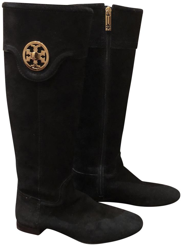 9c2f11faeebf33 Tory Burch Black Softy Suede Boots Booties Size US 6 Regular (M