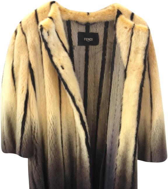 Item - Yellow Fur Coat Size 4 (S)