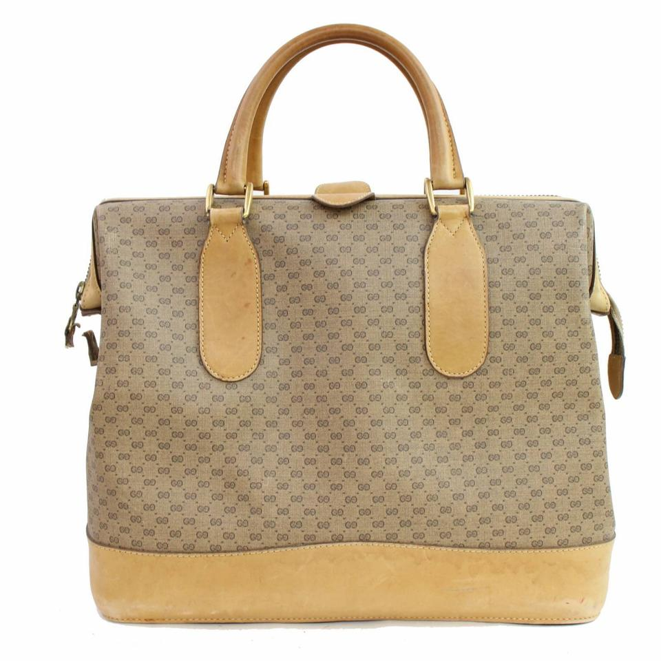 Gucci Monogram Gg Siganture 868531 Brown Coated Canvas Weekend ... b508292e3d